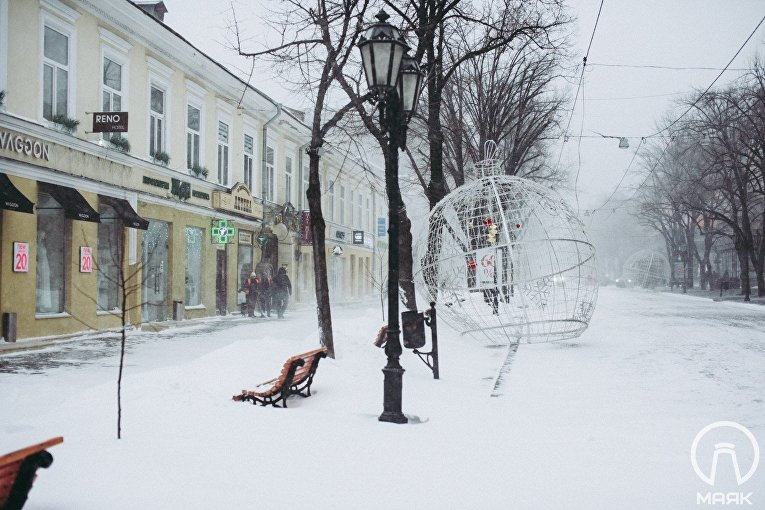 Одесса в снежном плену