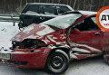 На Бориспольской трассе в Киеве в ДТП попали пять автомобилей