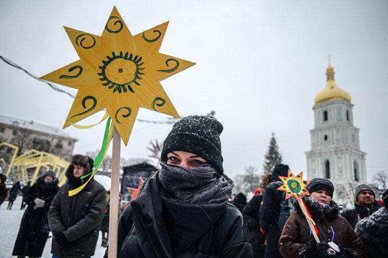 Рождественское шествие в Киеве