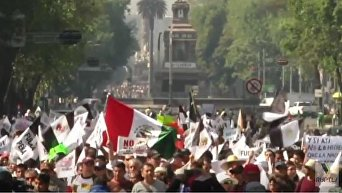 Многотысячный протест в Мексике против повышения цен на бензин