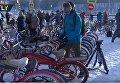 В Москве при –27 °С прошел велопарад