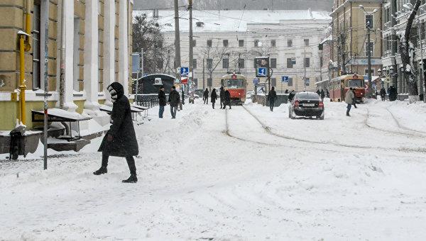 Киев в снегу. Архивное фото