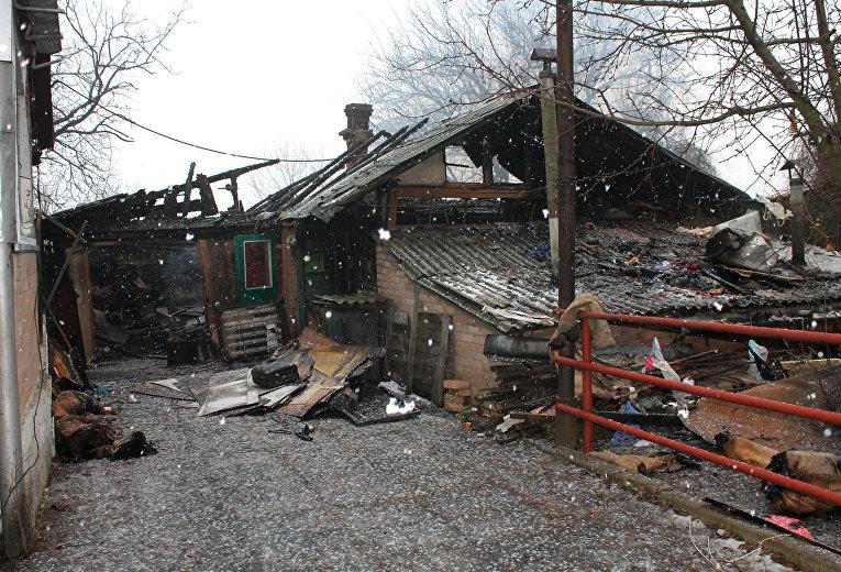 Последствия обстрела Зайцево