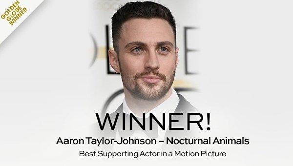Аарон Тейлор-Джонсон завоевал награду Золотой глобус за лучшую мужскую роль второго плана