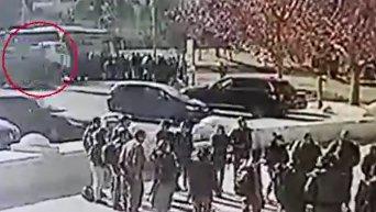 Момент теракта в Иерусалиме. Видео
