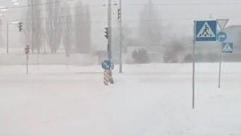 Последствия снегопада в Киеве