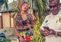 Алина Байкова в рекламной кампании капсульной коллекции St. Barth бренда Dolce & Gabbana