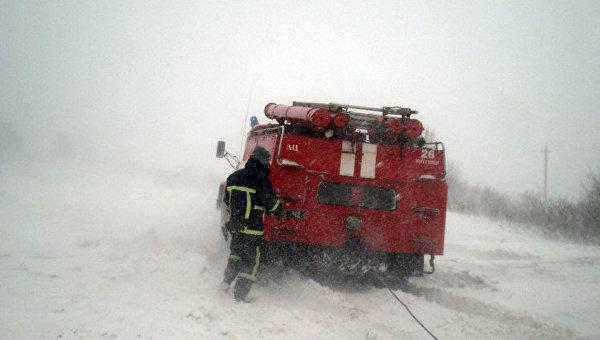 Работа спасателей ГСЧС