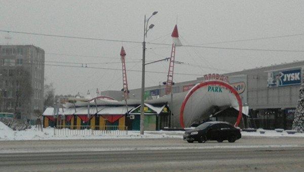 В Днепре из-за снега обвалился купол парка развлечений