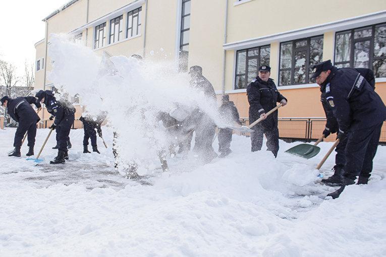 Уборка снега в Румынии