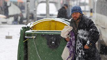 Бездомный в Македонии