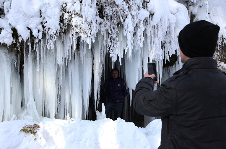 Морозы и снег в Косово
