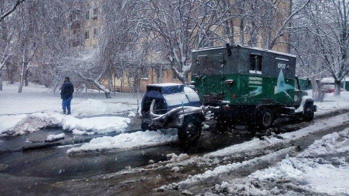 Порыв трубы в Одессе