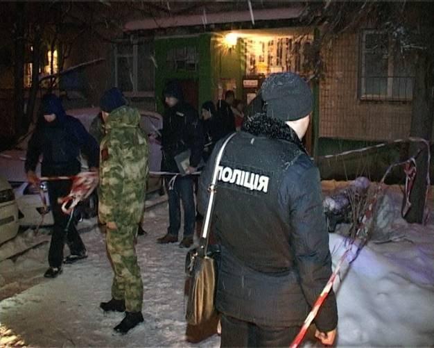На месте расстрела мужчины в Киеве