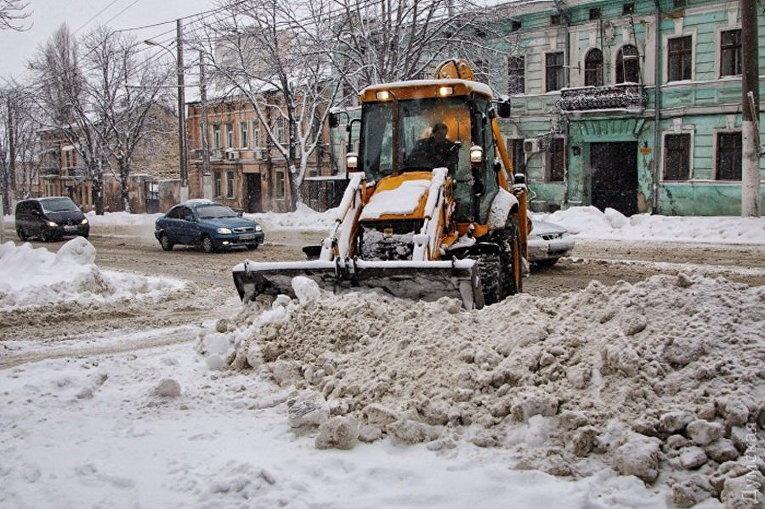 Уборка снега в Одессе
