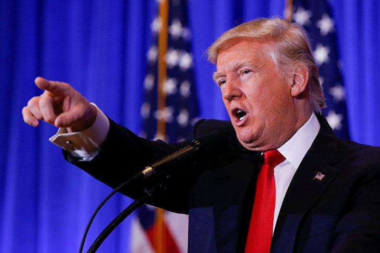 Первая пресс-конференция Дональда Трампа
