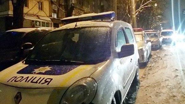 Полиция под Лукьяновским СИЗО