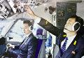 Экипаж во время полета.