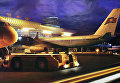 Ночной вид аэропорта Пхеньян.