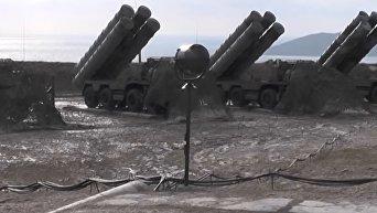 Дивизион С-400 Триумф заступил на боевое дежурство в Крыму. Видео