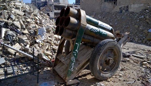 Оружие, оставленное боевиками в Алеппо. Архивное фото