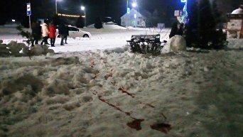 На месте стрельбы в Олевске Житомирской области