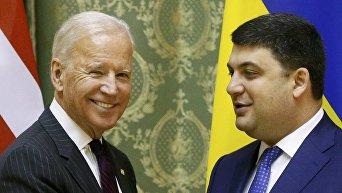 Джозеф Байден и Владимир Гройсман 16 января 2017 года