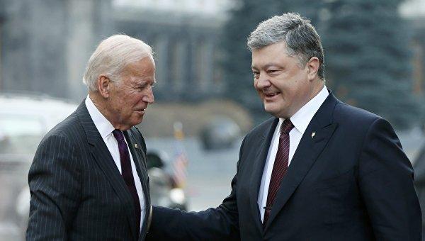 Джозеф Байден и Петр Порошенко 16 января 2017 года