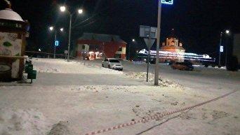 На месте стрельбы в Олевске