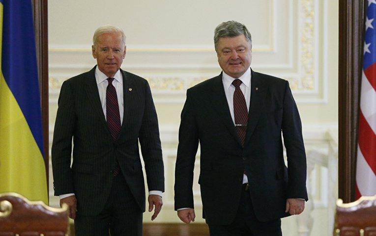 Вице-президент США Джозеф Байден и президент Украины Петр Порошенко