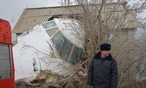 На месте крушения грузового Boeing 747-400 турецкой авиакомпании под Бишкеком