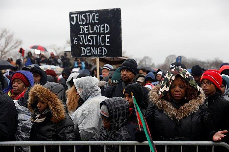 Акция протеста против Трампа в Вашингтоне