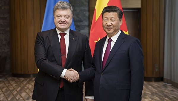 Президент Петр Порошенко и председатель Китайской Народной Республики Си Цзиньпин
