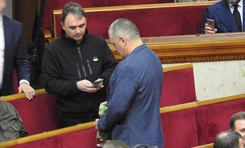 Бутылка водки Московская с акцизом ДНР в стенах ВР