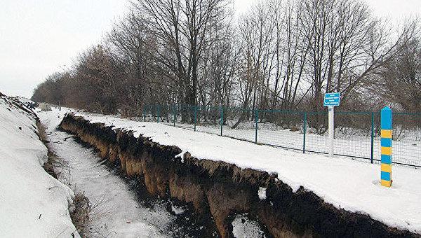 Проект Стена на границе с РФ зимой