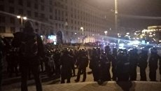 Столкновения на Грушевского в Киеве