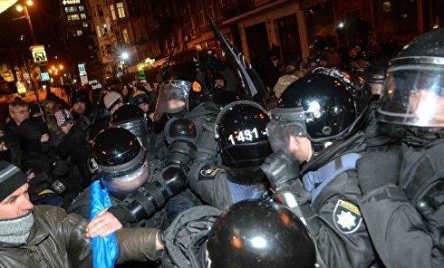 Столкновения между активистами ОУН и правоохранителями во время акции в память о событиях на Майдане Незалежности 19 января 2017 года