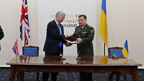 Встреча министра обороны Великобритании Майла Фэллона с министром обороны Украины генералом армии Степаном Полтораком