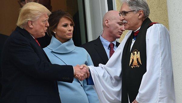 Трамп день инаугурации начнет спосещения церкви