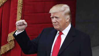 Дональд Трамп на инаугурации