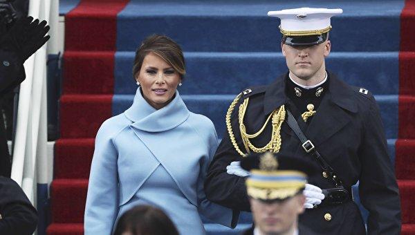 Меланья Трамп на инаугурации Дональда Трампа