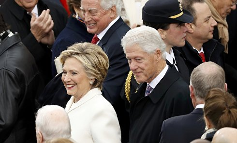 Чета Клинтон на инаугурации президента Дональда Трампа