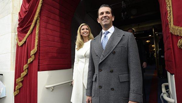 Дональд Трамп-младший и Иванка Трамп