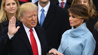 Президент США Дональд Трамп на инаугурации