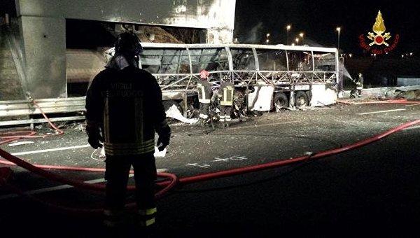 ВИталии в итоге ДТП погибли 16 человек