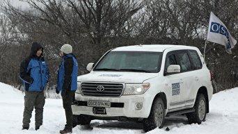 Замглавы миссии ОБСЕ в Украине А. Хуг в Донбассе