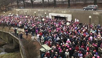 Акции протеста женщин против Трампа. Архивное фото