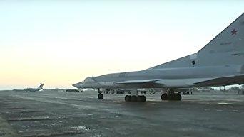 Стратегическая авиация ВКС РФ нанесла удары по объектам ИГ в Сирии. Видео