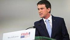 Предвыборное выступление Мануэля Вальса в Париже