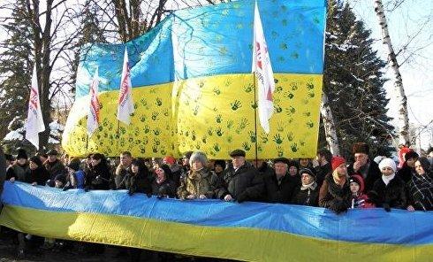 День Соборности в Краматорске